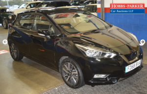 2018 Nissan Micra Acenta 14,298 miles for auction 25th