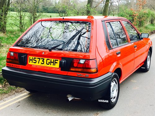 1990 Nissan Sunny 1.4 LS 5DR, One Owner, 29,000 Miles For Sale (picture 3 of 6)