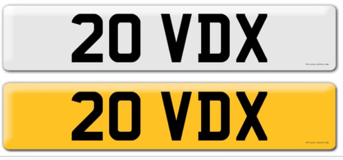 '20 VDX'   Dateless Registration For Sale For Sale (picture 1 of 1)
