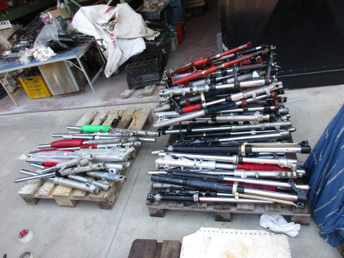 Lot of motorcycle forks vintage for various model For Sale (picture 1 of 6)