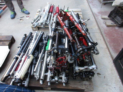 Lot of motorcycle forks vintage for various model For Sale (picture 2 of 6)