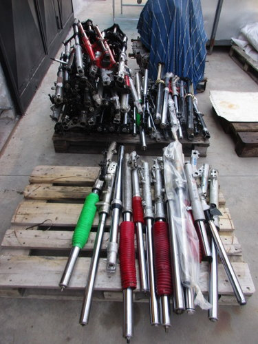 Lot of motorcycle forks vintage for various model For Sale (picture 5 of 6)