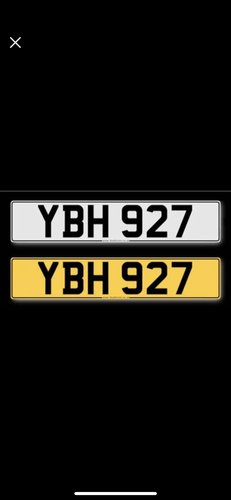YBH927 Cherished Number for sale on retention  For Sale (picture 1 of 1)