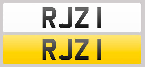 1998 Registration Plate RJZ 1 for sale For Sale (picture 1 of 1)