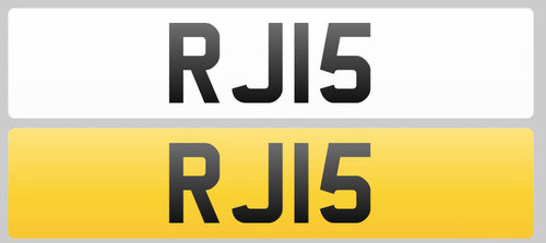 1998 Registration Plate RJI5 for sale For Sale (picture 1 of 1)