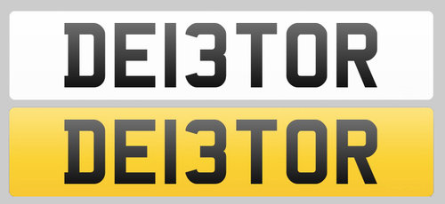 Registration Plate DEI3TOR for sale For Sale (picture 1 of 1)