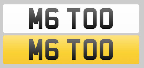 Registration Plate M6 TOO for sale For Sale (picture 1 of 1)
