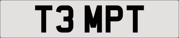 Cherished number plate T3 MPT (TEMPT) For Sale