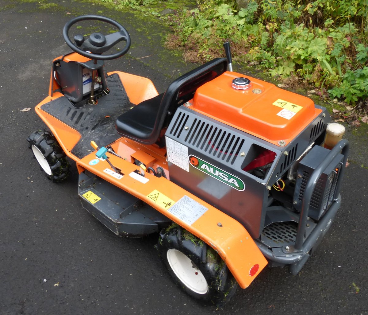 Ausa / Canycom ride on brush cutter mower For Sale | Car And