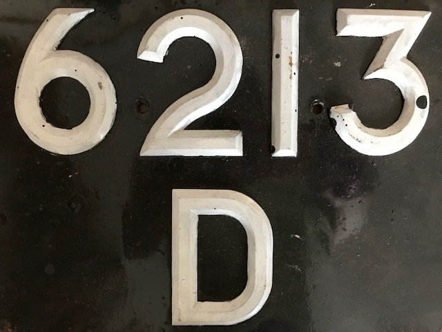 6212 D & 6213 D - 1964 Number Plates For Sale (picture 1 of 1)