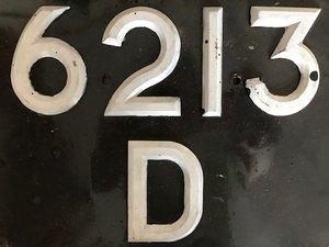 6212 D & 6213 D - 1964 Number Plates