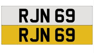 Cherished reg no RJN 69 For Sale