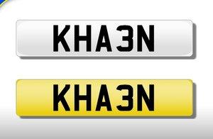 Khan number plate kha3n