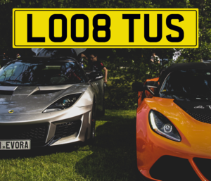 LO08 TUS Number Plate