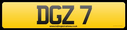 0000 DGZ 7 Dateless Cherishd Registration For Sale (picture 3 of 3)