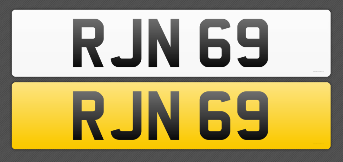 Cherished reg no RJN 69 For Sale (picture 1 of 1)