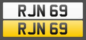 Cherished reg no RJN 69