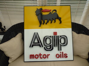 Agip Motor Oils Sign.