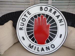 Borrani Wheels Sign.