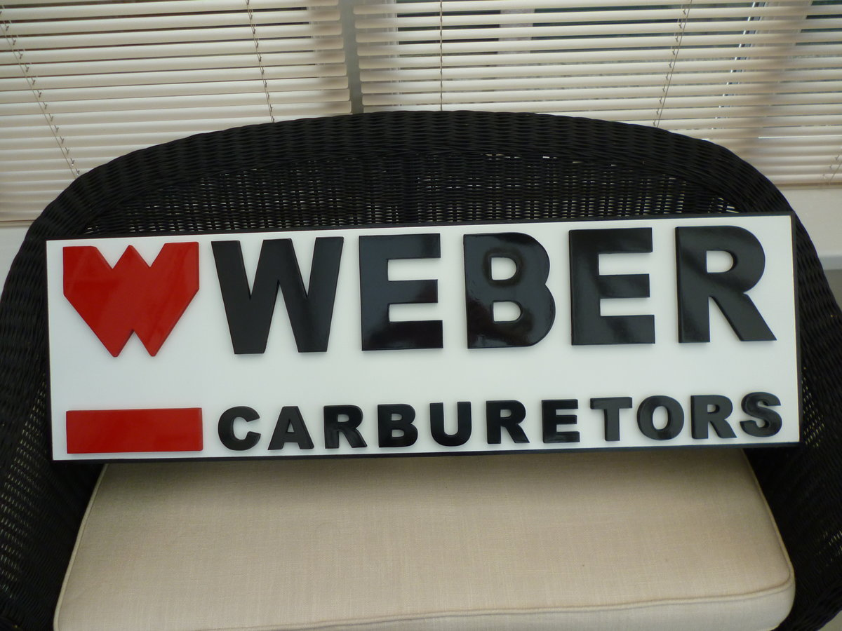 Weber Carburetors Sign For Sale (picture 1 of 2)