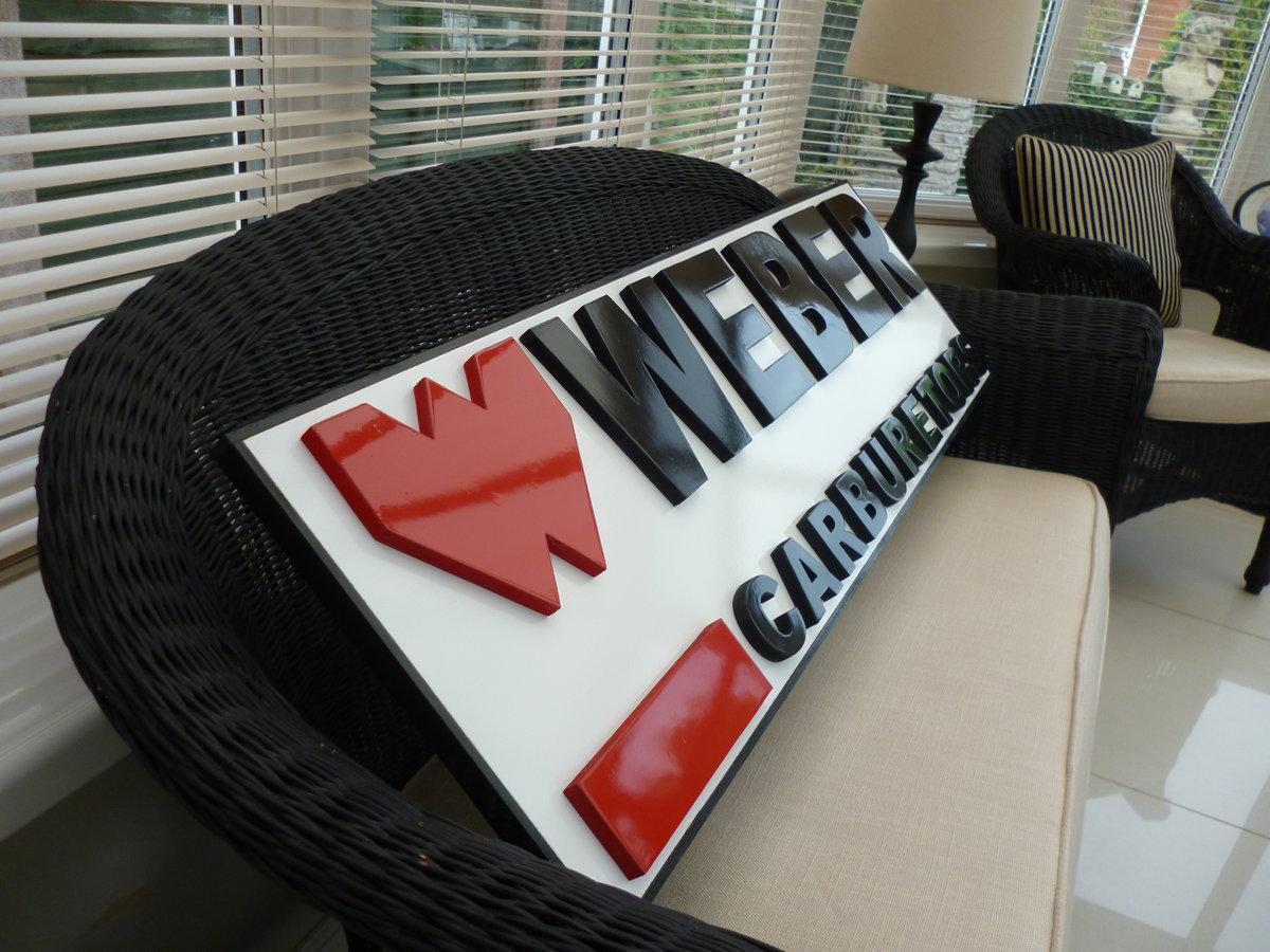 Weber Carburetors Sign For Sale (picture 2 of 2)