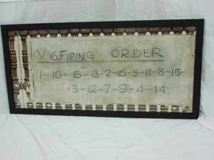BRM V16 FIRING ORDER 4ftx2ft FROM BOURNE WORKS