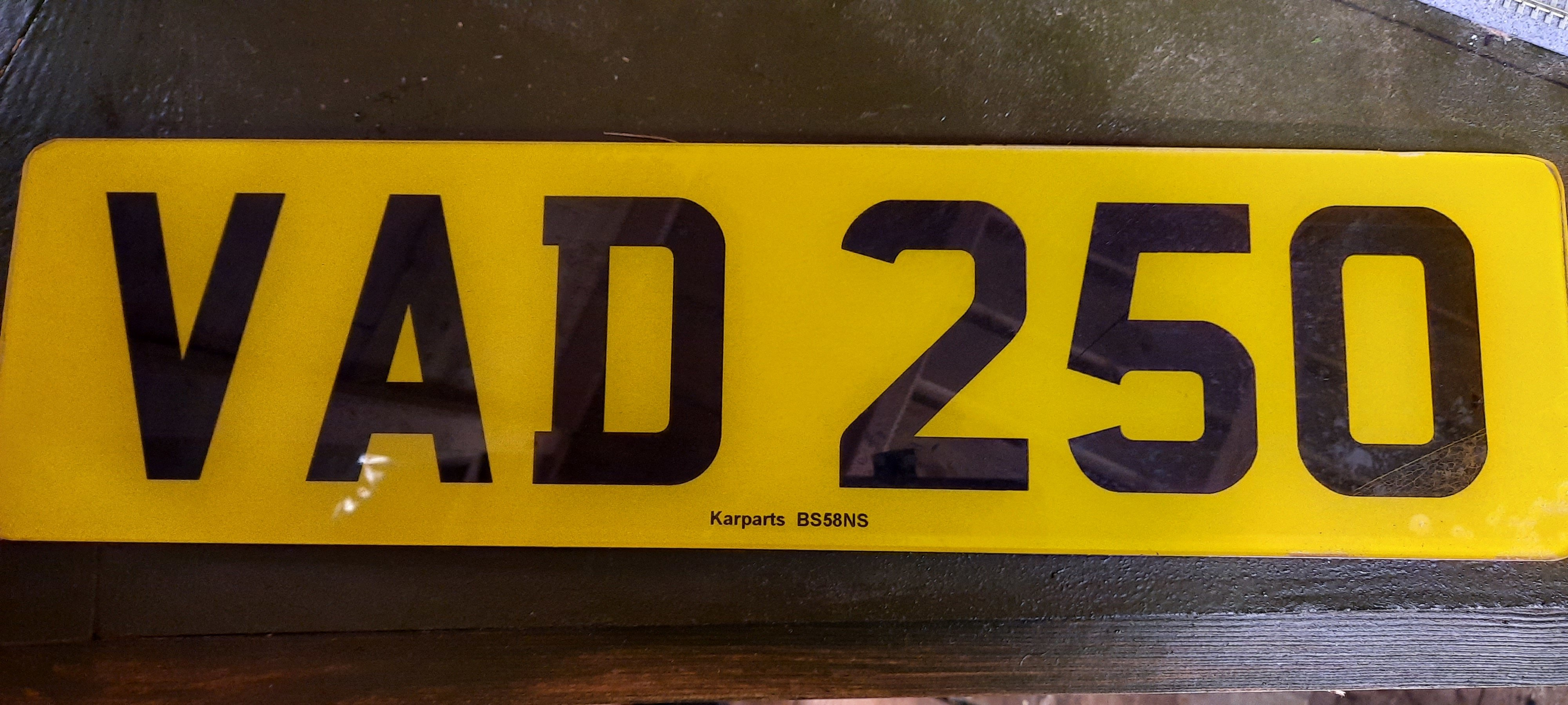 private plate For Sale (picture 1 of 1)
