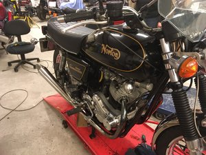 Black Norton Commando 850 MRK3 Interstate 1975 For Sale