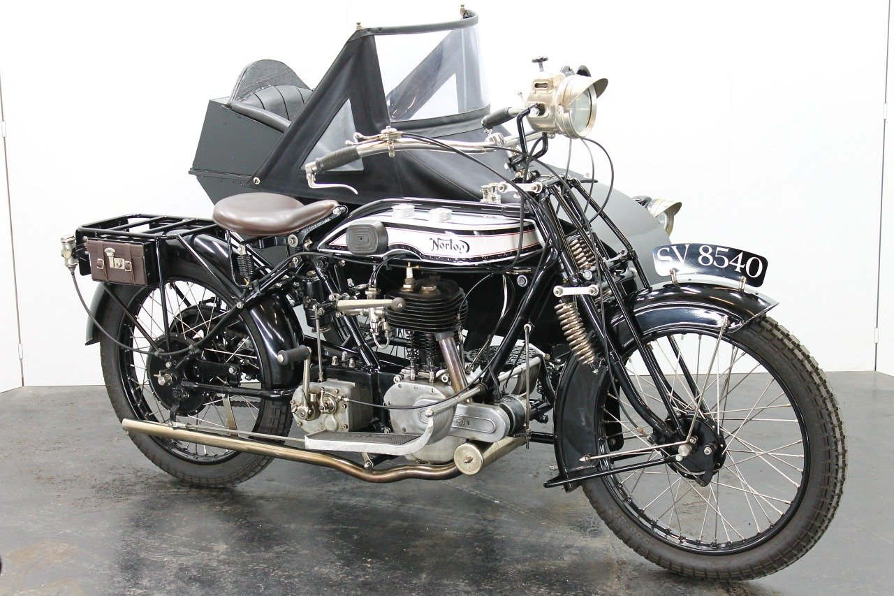 Norton Big Four Combination 1925 633cc 1 cyl sv For Sale (picture 1 of 6)