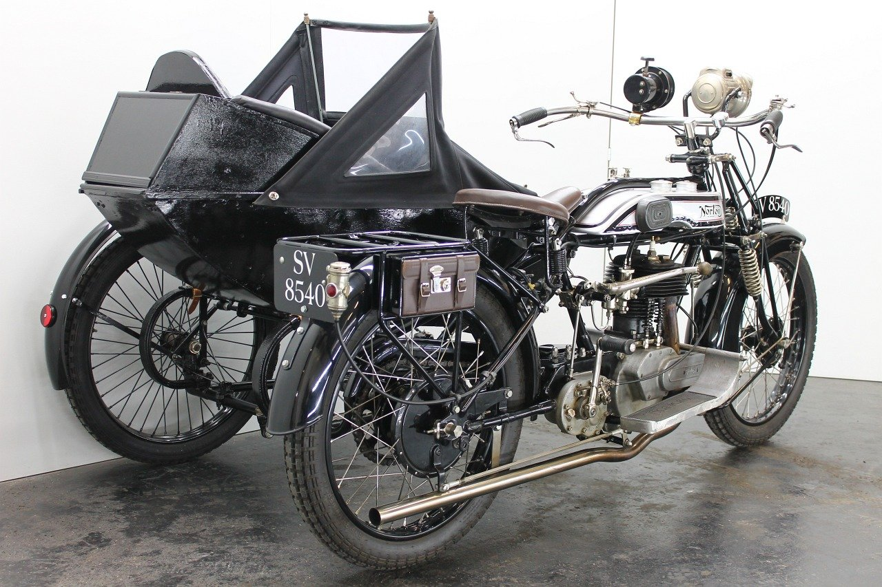 Norton Big Four Combination 1925 633cc 1 cyl sv For Sale (picture 3 of 6)