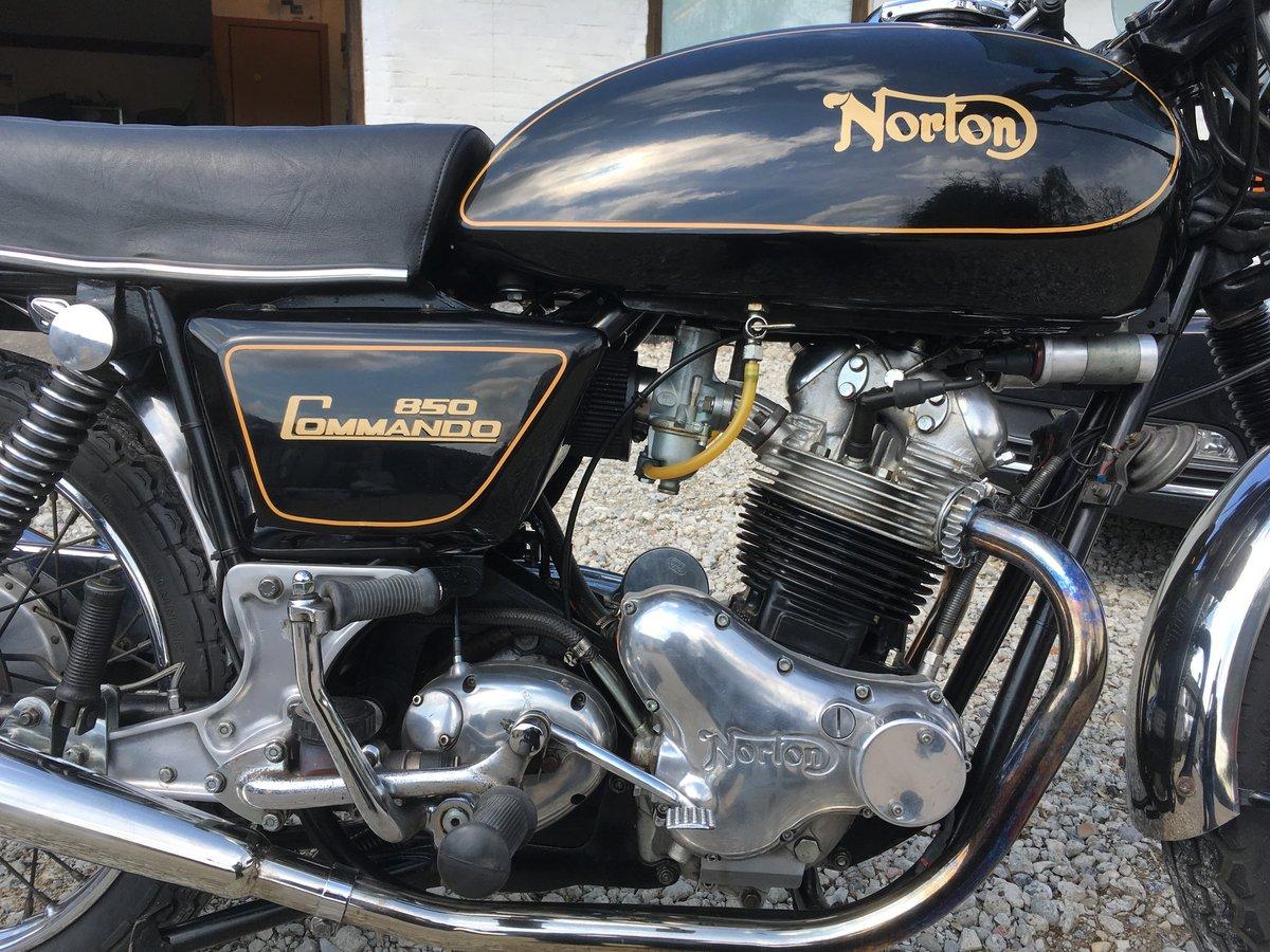 Black Norton Commando 850 MRK3 Interstate 1975 SOLD (picture 1 of 6)