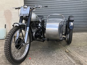 1951 NORTON 500T 500 T TRIALS COMBINATION CANTERBURY SIDE CAR
