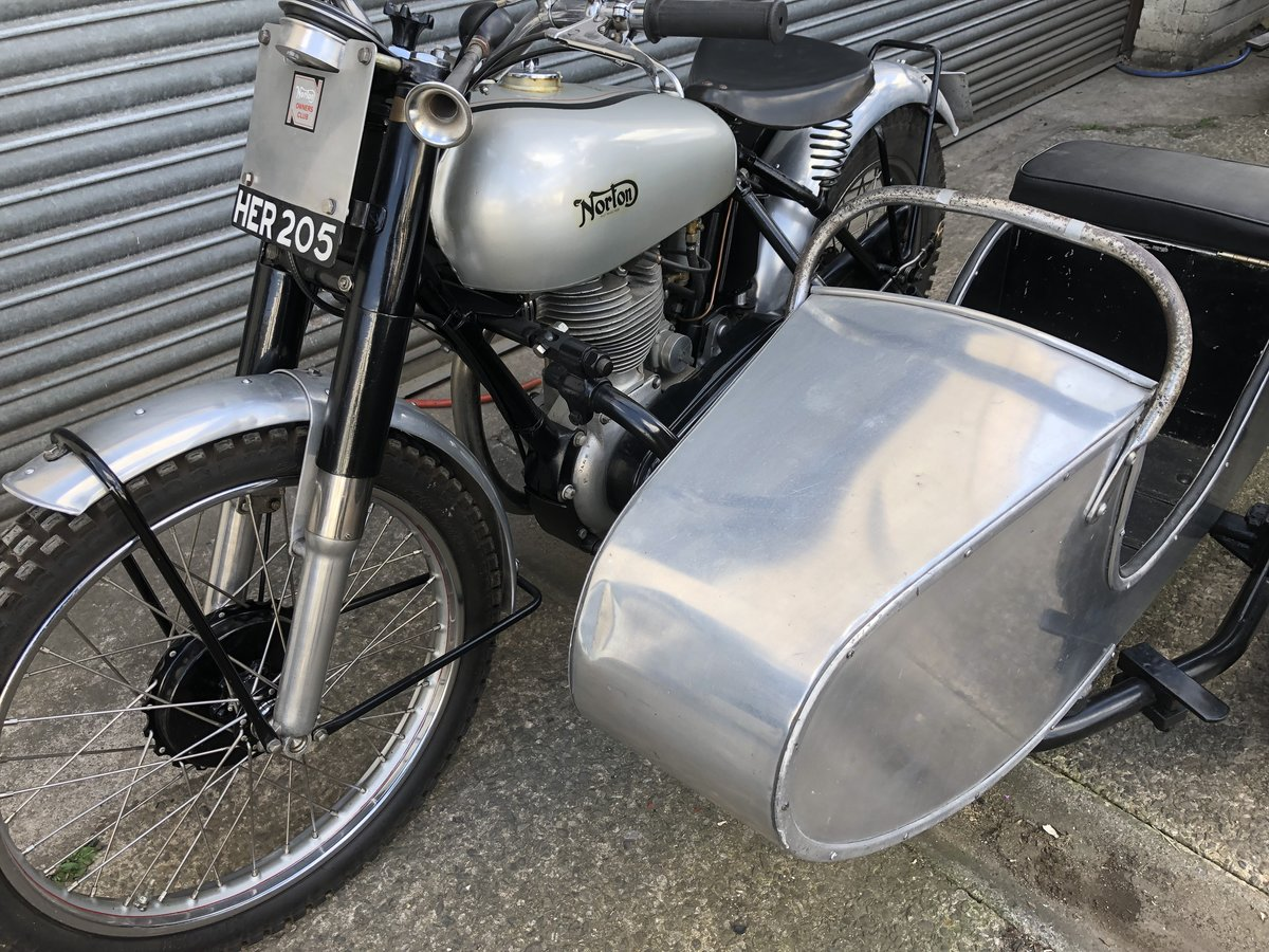 1951 NORTON 500T 500 T TRIALS COMBINATION CANTERBURY SIDE CAR For Sale (picture 3 of 6)