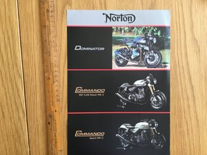 2015 Norton Commando brochure For Sale