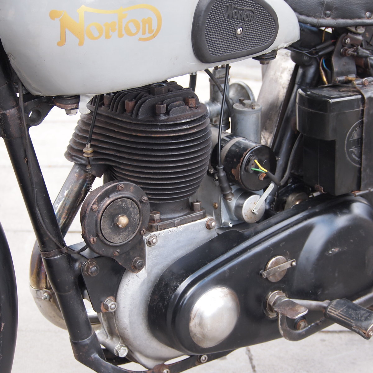 1946 Norton 16H Side Valve, Matching Numbers, Working Oily Rag. For Sale (picture 4 of 6)