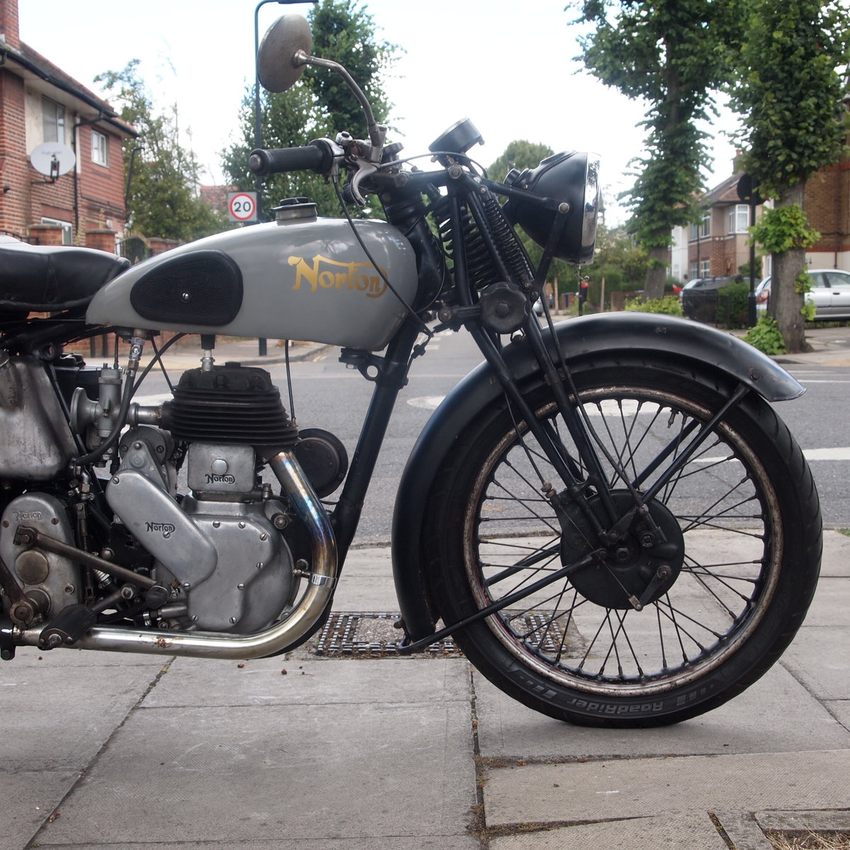 1946 Norton 16H Side Valve, Matching Numbers, Working Oily Rag. For Sale (picture 5 of 6)