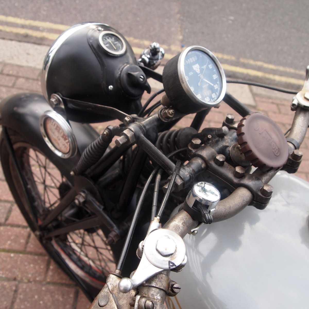 1946 Norton 16H Side Valve, Matching Numbers, Working Oily Rag. For Sale (picture 6 of 6)