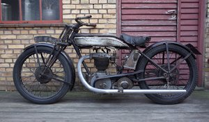 Picture of 1927 Norton Model 18 Matching numbers.