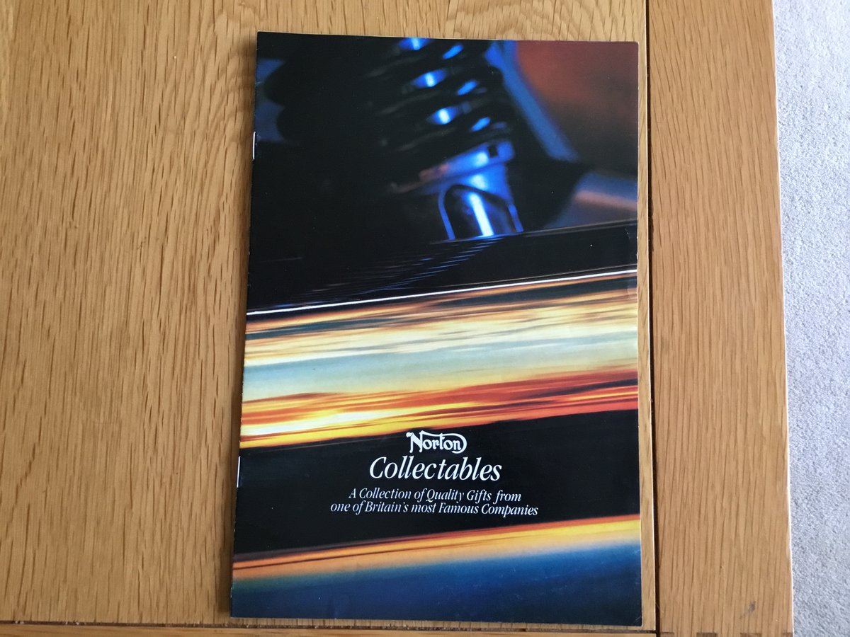 1992 Norton motorcycles collectables brochure For Sale (picture 1 of 2)