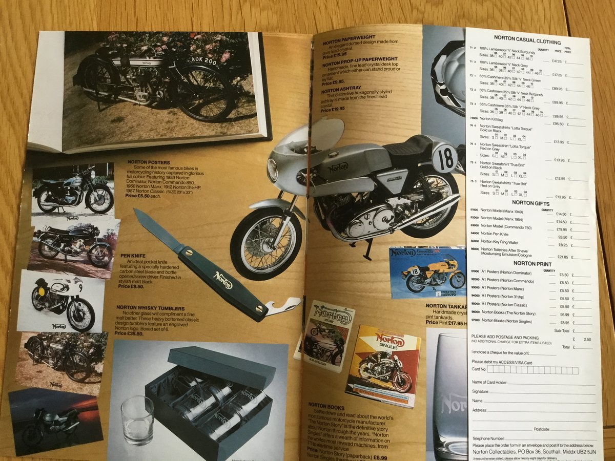 1992 Norton motorcycles collectables brochure For Sale (picture 2 of 2)