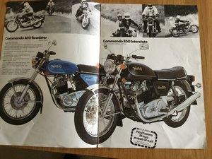 Picture of 1970 Norton Comando brochure For Sale
