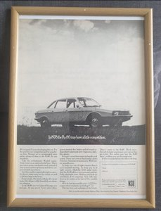 Picture of 1968 NSU RO80 Framed Advert Original
