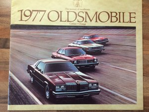 1977 Oldsmobile Cutlass and Omega brochure For Sale