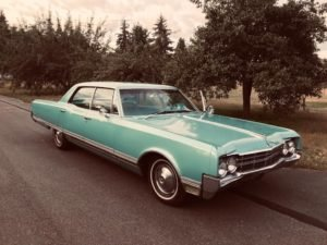 1965 Oldsmobile 98 Luxury Sedan 425-360-HP Auto Blue $11.9k For Sale