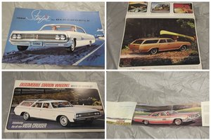0000 OLDSMOBILE MEMORABILIA AND SALES BROCHURES VARIOUS MARQUES