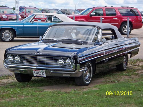 1962 Low Mile Full-Size Oldsmobile Dynamic 88 Conv For Sale (picture 3 of 6)