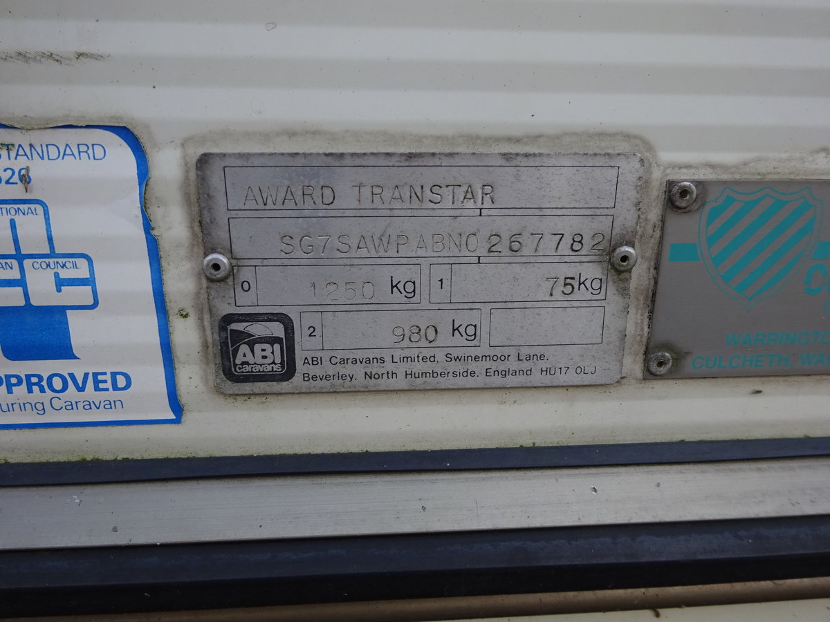 0000 ABI AWARD TRANSTAR SMALL TOURER  WITH END SHOWER / TOILET For Sale (picture 6 of 6)