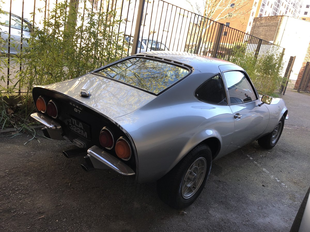 1972 Classic Opel Gt 1900 Manual Silver For Sale Car And Classic