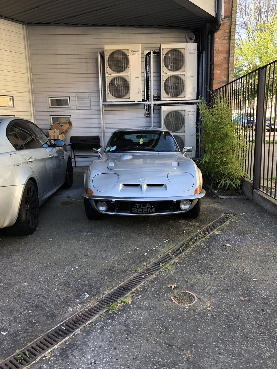1972 Classic Opel GT 1900 Manual Silver For Sale (picture 2 of 4)