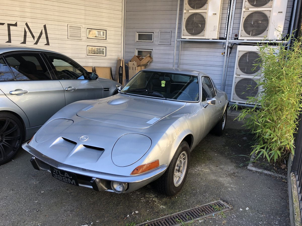 1972 Classic Opel GT 1900 Manual Silver For Sale (picture 3 of 4)
